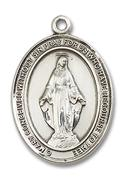 Miraculous Medal - Sterling Silver - Large